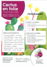 CACTUS EN FOLIE - Grand Ouest 2016